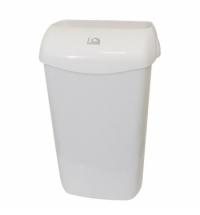 Ведро для мусора Lime белое с держателем мешка, 23л, 974230