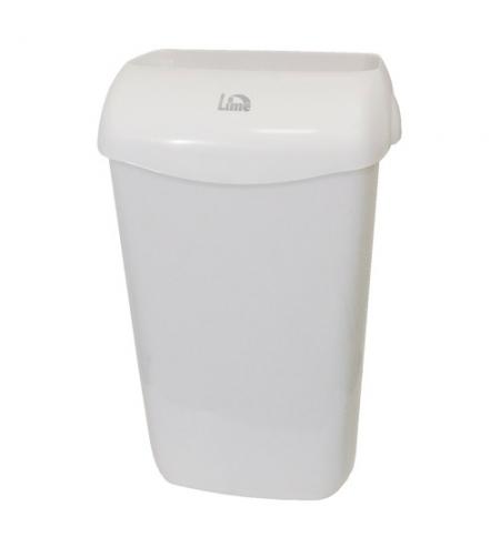 фото: Ведро для мусора Lime белое с держателем мешка, 23л, 974230