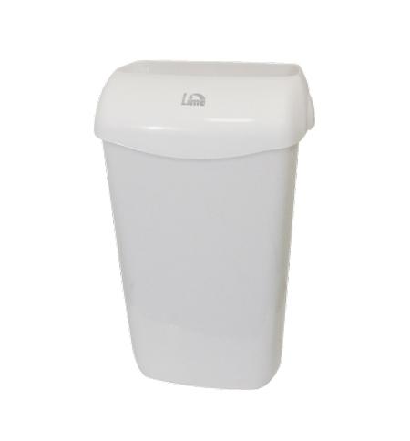 фото: Ведро для мусора Lime с держателем мешка, 11л, белое, 974110