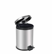 Ведро для мусора с педалью Lime Crom металлик, 5л, A 55000