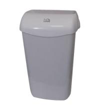 фото: Ведро для мусора Lime серое с держателем мешка, 11л, 974111