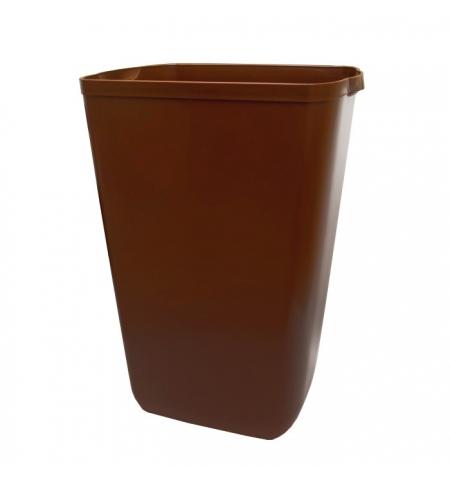 фото: Ведро для мусора Lime Color 23л, коричневое, A 74201MA