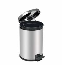 Ведро для мусора с педалью Lime Crom металлик, 16л, A 55016