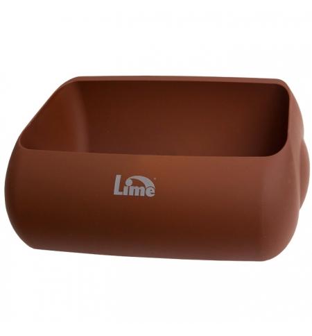 фото: Держатель для мешка Lime Color для корзины 23л, коричневый, A 74401MAS