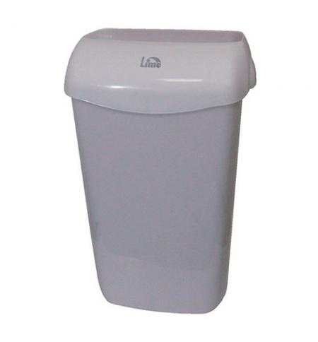 фото: Ведро для мусора Lime серое с держателем мешка, 23л, 974231