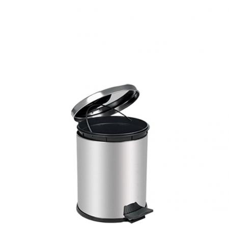 фото: Ведро для мусора с педалью Lime Crom металлик, 3л, A 55100