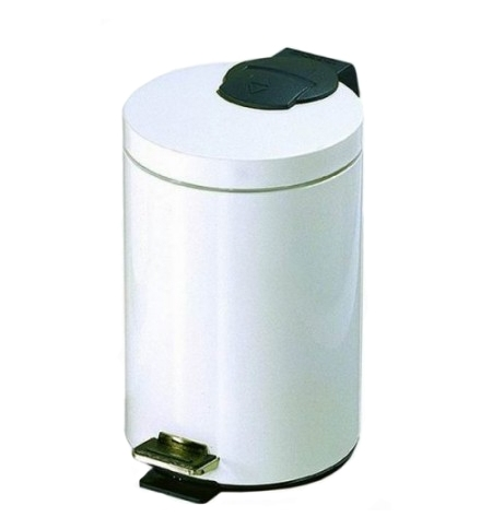 фото: Ведро для мусора с педалью Lime Prestige 12л белое, A64611
