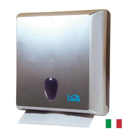 фото: Диспенсер для полотенец листовых Lime серебристый maxi, Z  укладка, A70611SATS