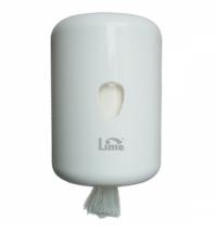фото: Диспенсер для полотенец с центральной вытяжкой Lime белый maxi, без дозатора, 931300