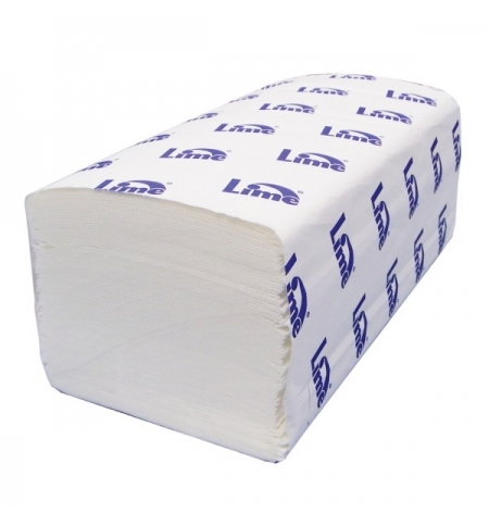 фото: Бумажные полотенца Lime эконом листовые белые, V укладка, 200шт, 1 слой, 210600