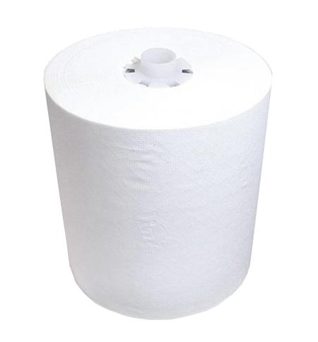 фото: Бумажные полотенца Lime Matic maxi в рулоне белые, 150м, 1 слой, 252155-Ц