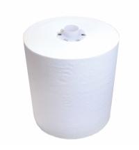 Бумажные полотенца Lime в рулоне с центральной вытяжкой белые, 210м, 1 слой, 251210