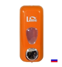 Диспенсер для мыла наливной Lime оранжевый 600мл, 971003