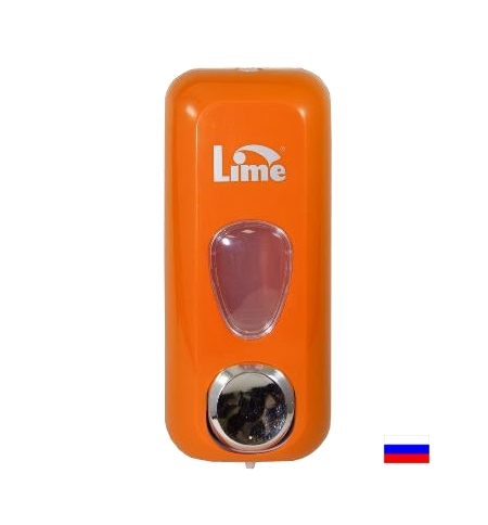 фото: Диспенсер для мыла наливной Lime оранжевый 600мл, 971003