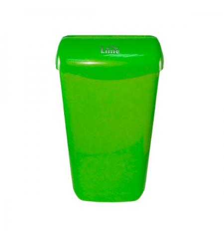 фото: Контейнер для мусора подвесной Lime 11л, зеленый, с держателем мешка, 974114