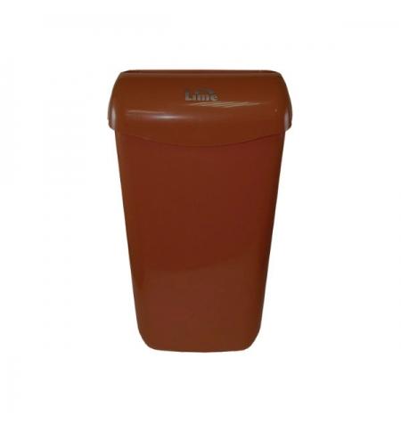 фото: Контейнер для мусора подвесной Lime 11л, коричневый, с держателем мешка, 974115