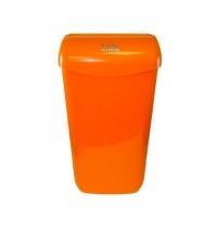 Контейнер для мусора подвесной Lime 11л, оранжевый, с держателем мешка, 974113