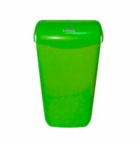Контейнер для мусора подвесной Lime 23л, зеленый, с держателем мешка, 974234