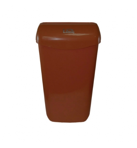 фото: Контейнер для мусора подвесной Lime 23л, коричневый, с держателем мешка, 974235