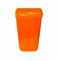 Контейнер для мусора подвесной Lime 23л, оранжевый, с держателем мешка, 974233