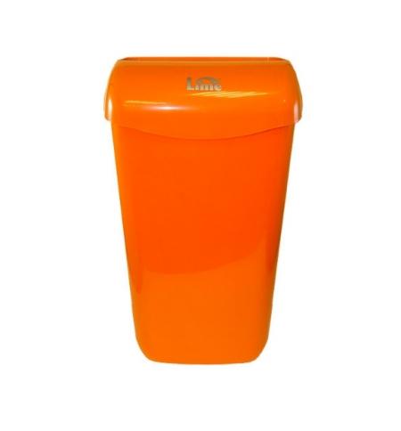 фото: Контейнер для мусора подвесной Lime 23л, оранжевый, с держателем мешка, 974233