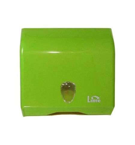 фото: Диспенсер для полотенец листовых Lime зеленый, mini, V укладка, 926004