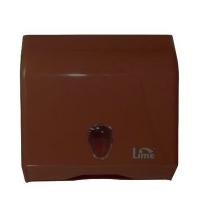 фото: Диспенсер для полотенец листовых Lime коричневый, mini, V укладка, 926005