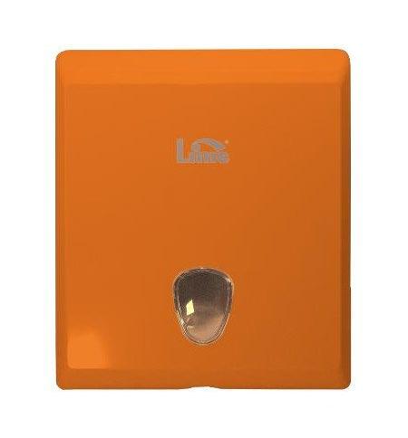 фото: Диспенсер для полотенец листовых Lime оранжевый, maxi, Z укладка, 927003