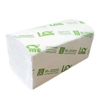 фото: Бумажные полотенца Lime листовые, белые, V укладка, 150шт, 2 слоя, 220150